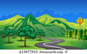 Mountain road Clip Art Vector Graphics. 5,554 mountain road EPS.