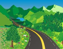 Road in mountain clipart.