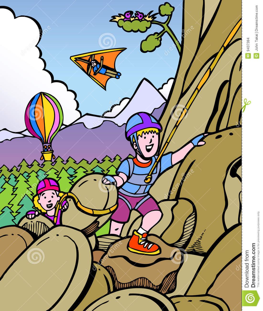 Rock Climbing Gear Clipart.