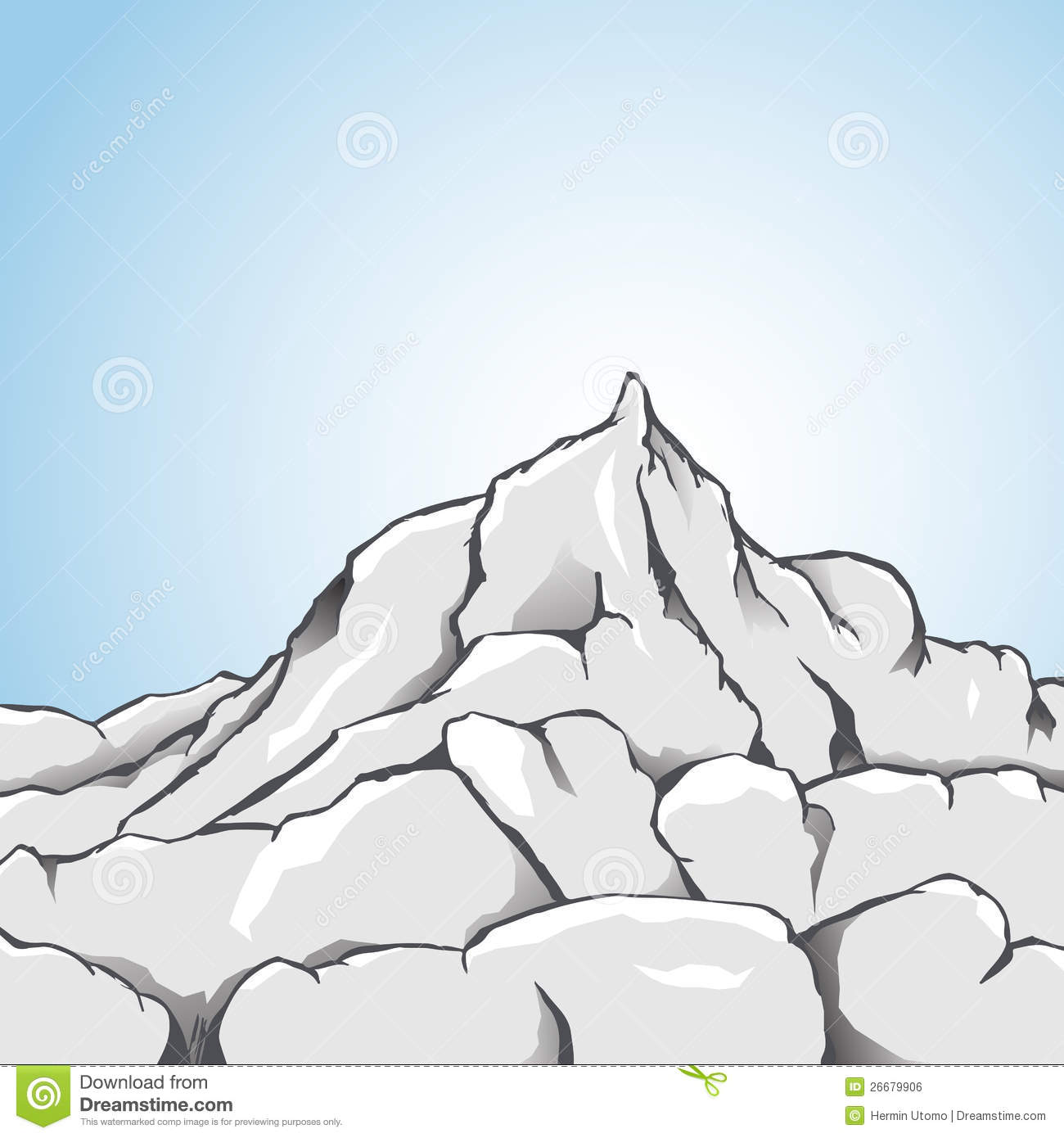 Rock mountain clipart.