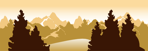 Mountain scenery clipart.