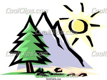 Mountain Scene Clipart.