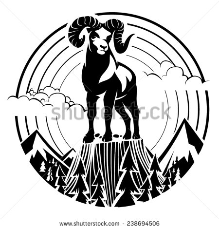 Mountain Sheep Stock Photos, Royalty.