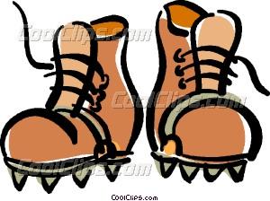 Mountain Climbing Clip Art Shoes.