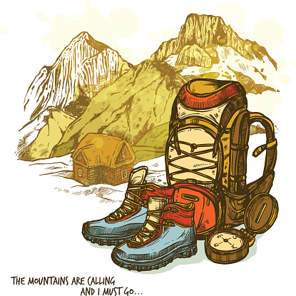Mountain Shoe Clip Art, Vector Images & Illustrations.