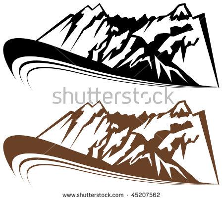 Mountain Cabin Retro Clip Art Stock Vector 59158651.