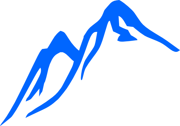 Mountain Blue Clip Art at Clker.com.