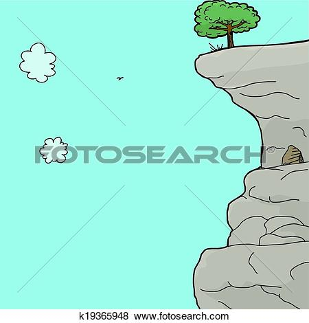 Clip Art of Cave in Mountain Side k19365948.