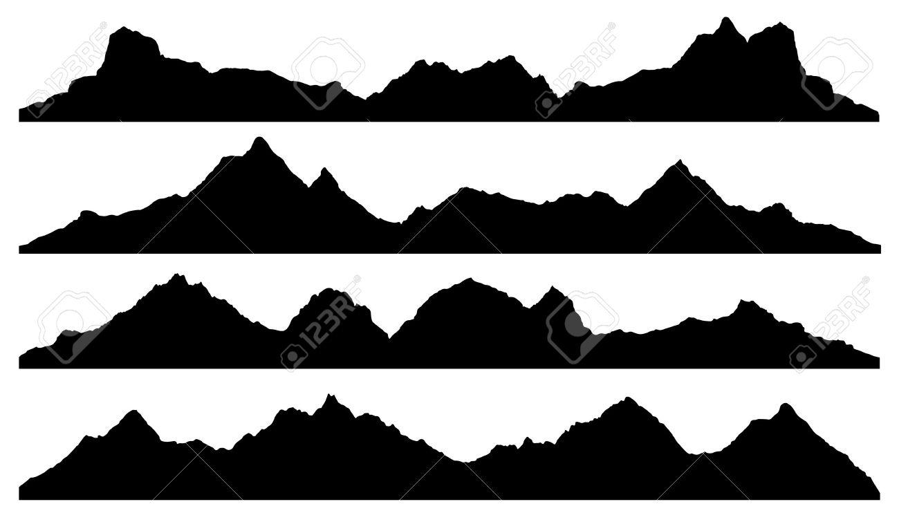 Mountain Silhouette Vector.