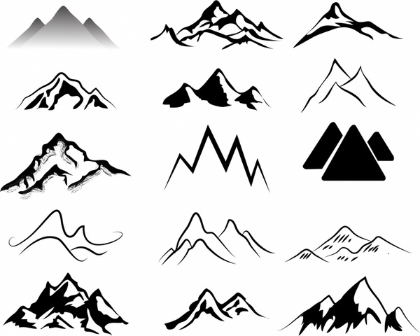 Mountains Free vector in Adobe Illustrator ai ( .AI.