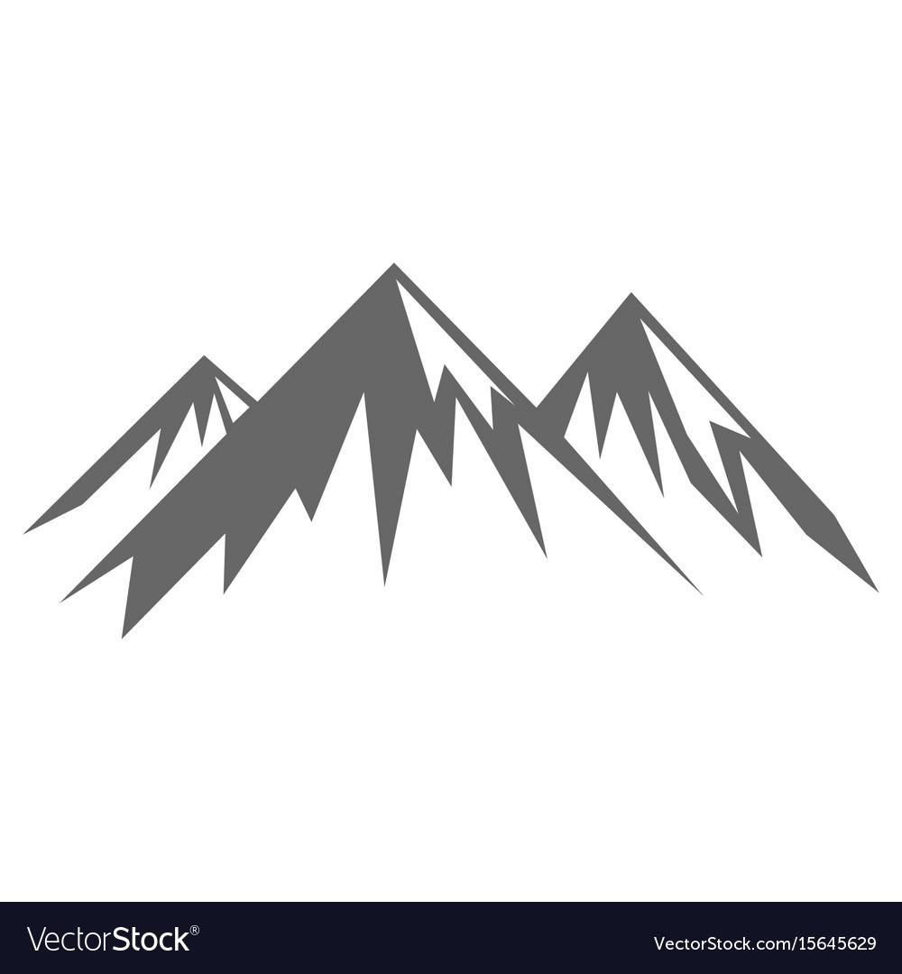 Rock mountain silhouette.
