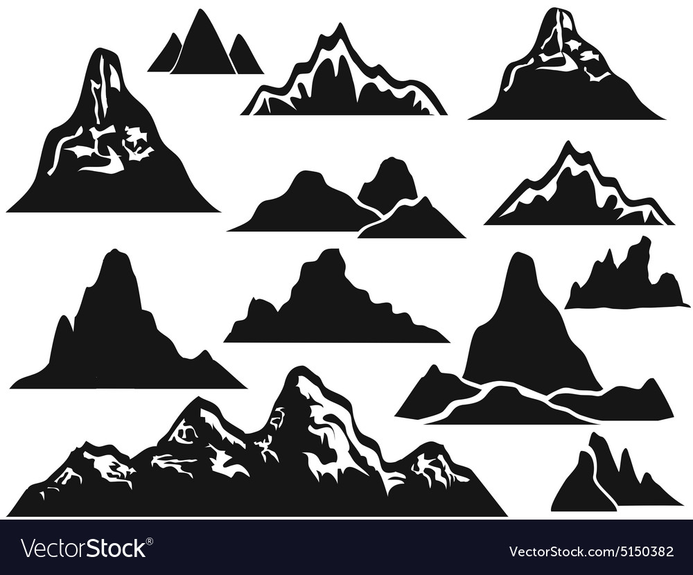 Mountain silhouettes.