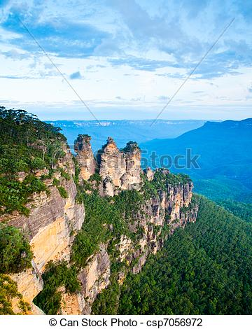 Stock Photo of The Three Sisters From Echo Point, Blue Mountains.
