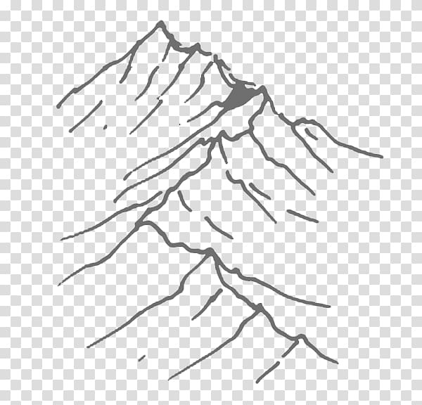 Drawing Mountain Art Sketch, mountain transparent background.