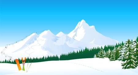 Mountain with snow clipart 2 » Clipart Portal.