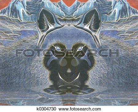 Stock Illustrations of Mountain Spirit 3 k0304730.
