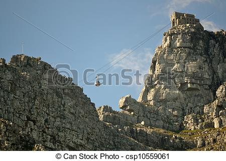 Stock Image of Table Mountain Cableway mountain station.