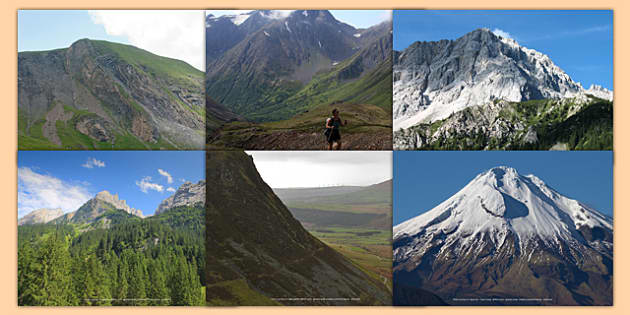 Magnificent Mountains Photo Clip Art Pack.