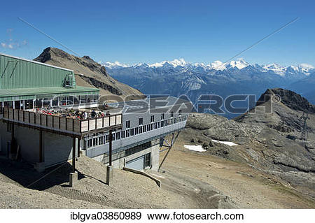 "Stock Photograph of ""Plaine Morte mountain station, Funitel."