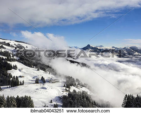 "Stock Photography of ""Mountain station Hochbrixen with igloo."