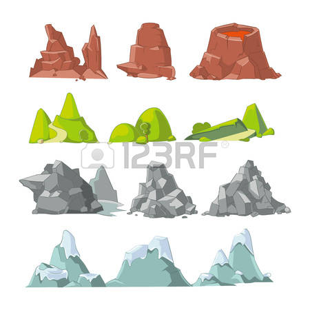 9,662 Stone Mountain Stock Vector Illustration And Royalty Free.