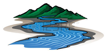 1,680 Mountain Stream Stock Vector Illustration And Royalty Free.