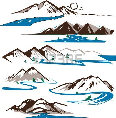 1,601 Mountain Stream Stock Vector Illustration And Royalty Free.