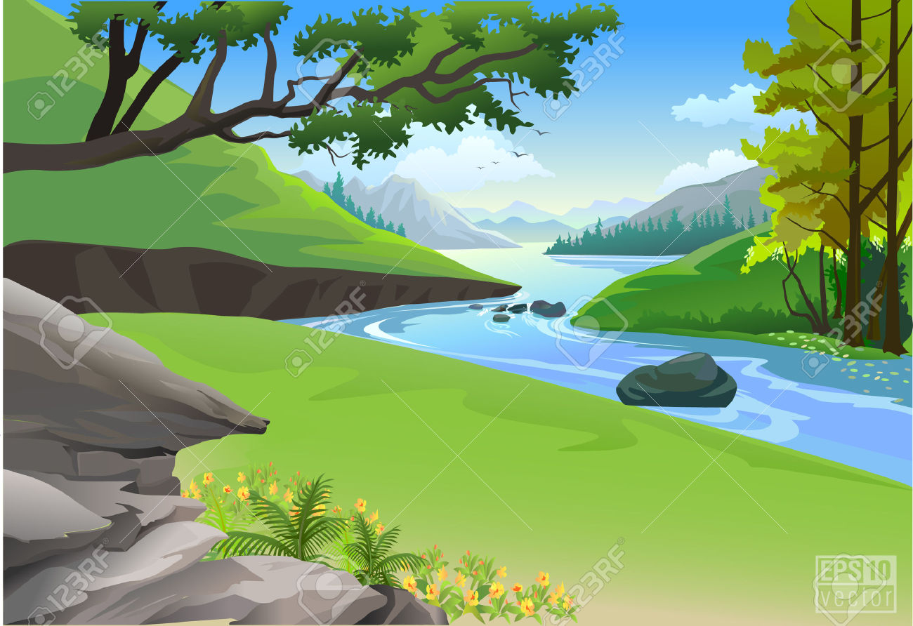 mountain stream clipart clipground