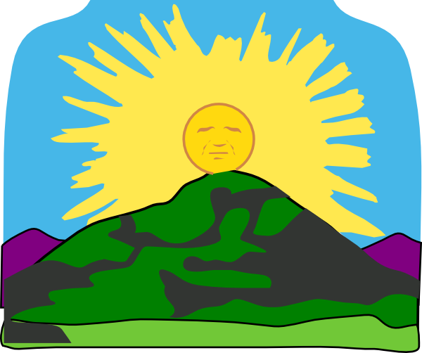 Sun Rays Mountain Clip Art at Clker.com.