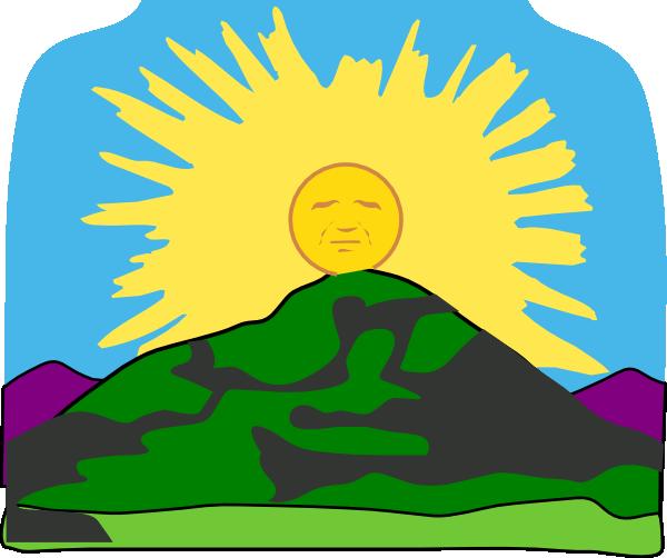 Sun Rays Mountain Clip Art at Clker.com.