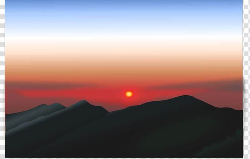 Sunrise Mountain Sunset , mountain transparent background.
