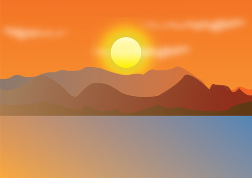 Vector mountains sunset free vector download (776 Free.