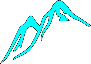 Mountain Tops Covered With Ice Clip Art at Clker.com.