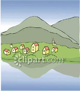 Mountain Town Clip Art.