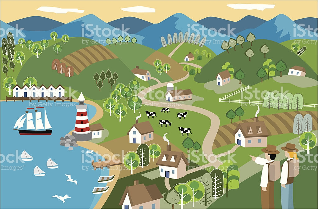 Mountain Town Clip Art, Vector Images & Illustrations.