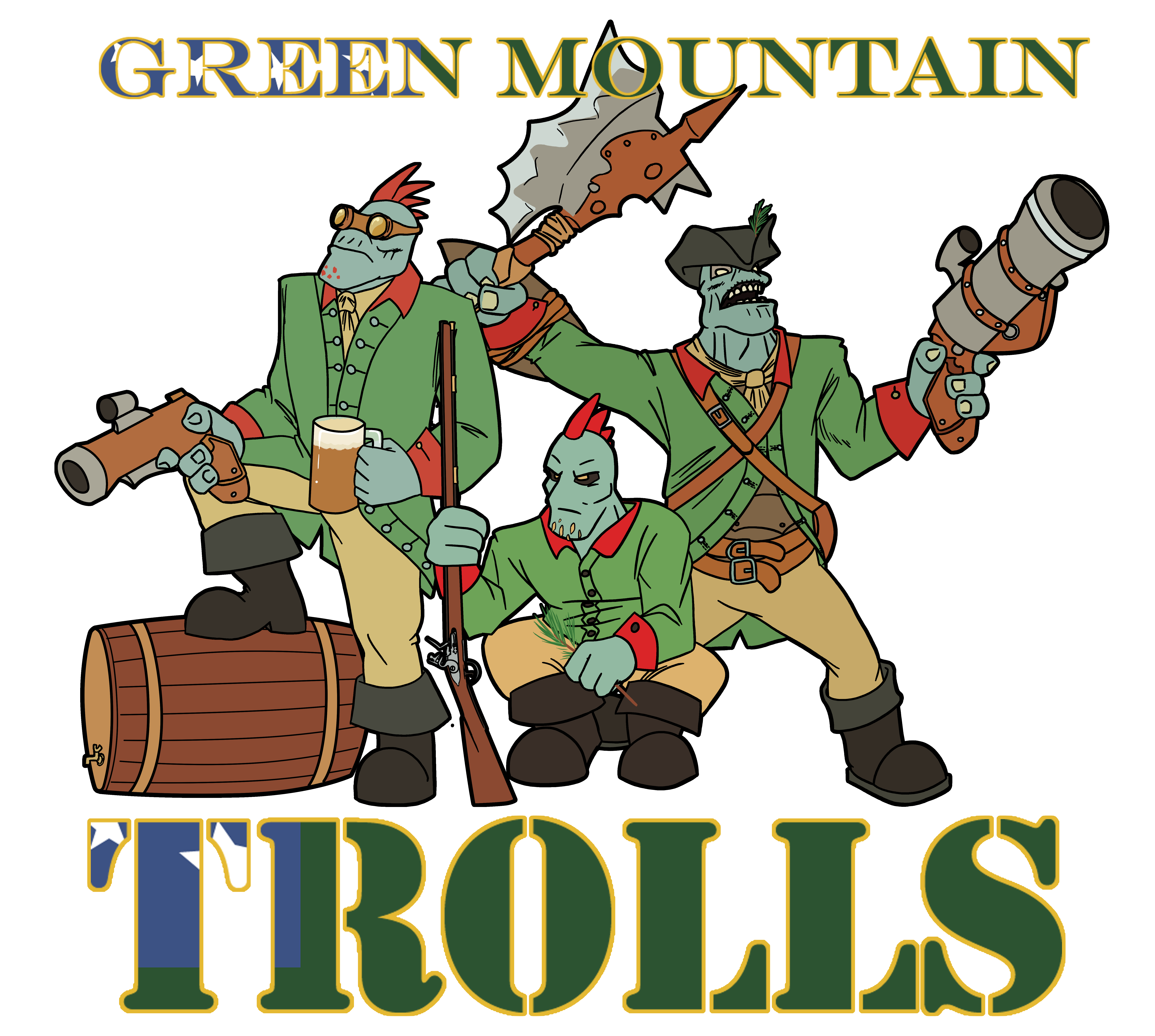 Green Mountain TROLLS by Flameshadow117 on DeviantArt.