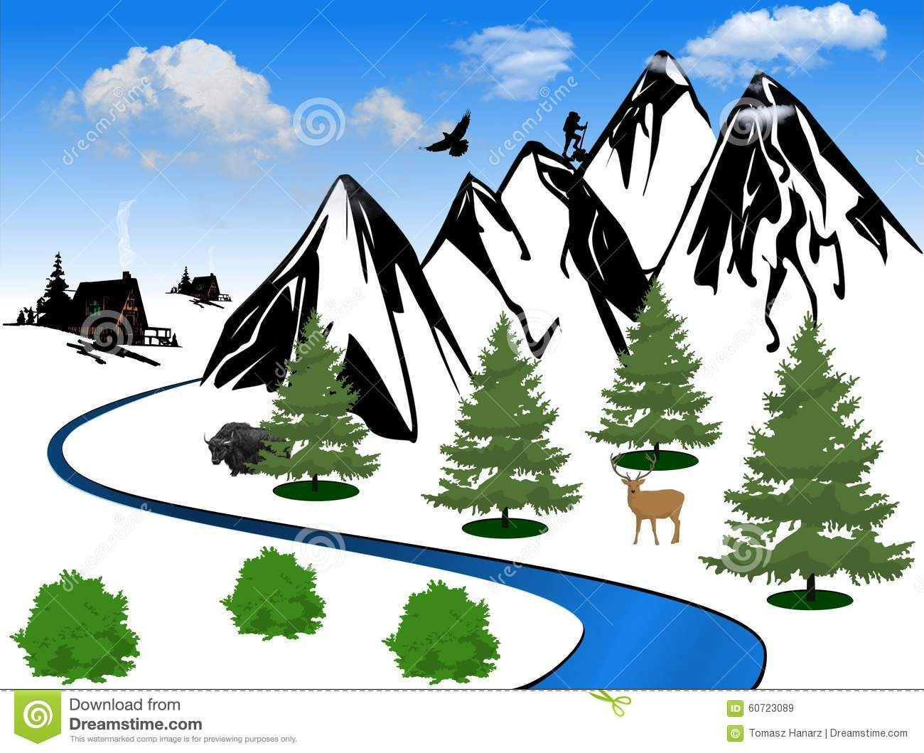 Mountain Valley Clipart.