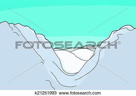 Clipart of Mountain Valley Background k21251993.