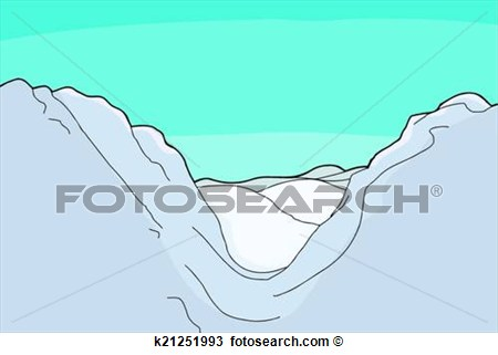 Mountain valley clipart - Clipground
