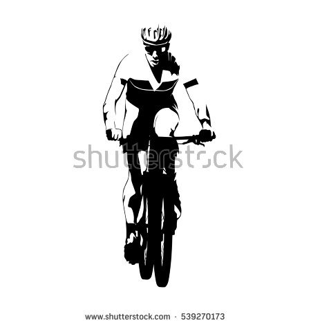 Mountain Bike Silhouette Stock Images, Royalty.