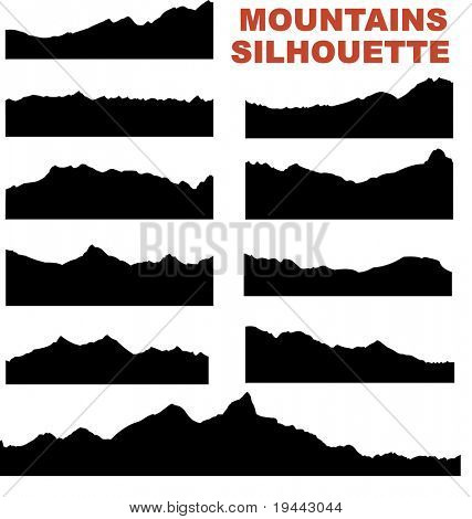 Mountain Silhouette Images, Stock Photos & Illustrations.