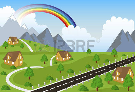 4,719 Mountain Village Stock Vector Illustration And Royalty Free.