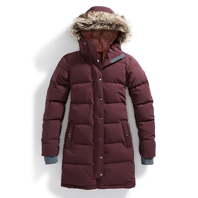 EMS Women's Klatawa Long Down Jacket Winetasting Purple XS.