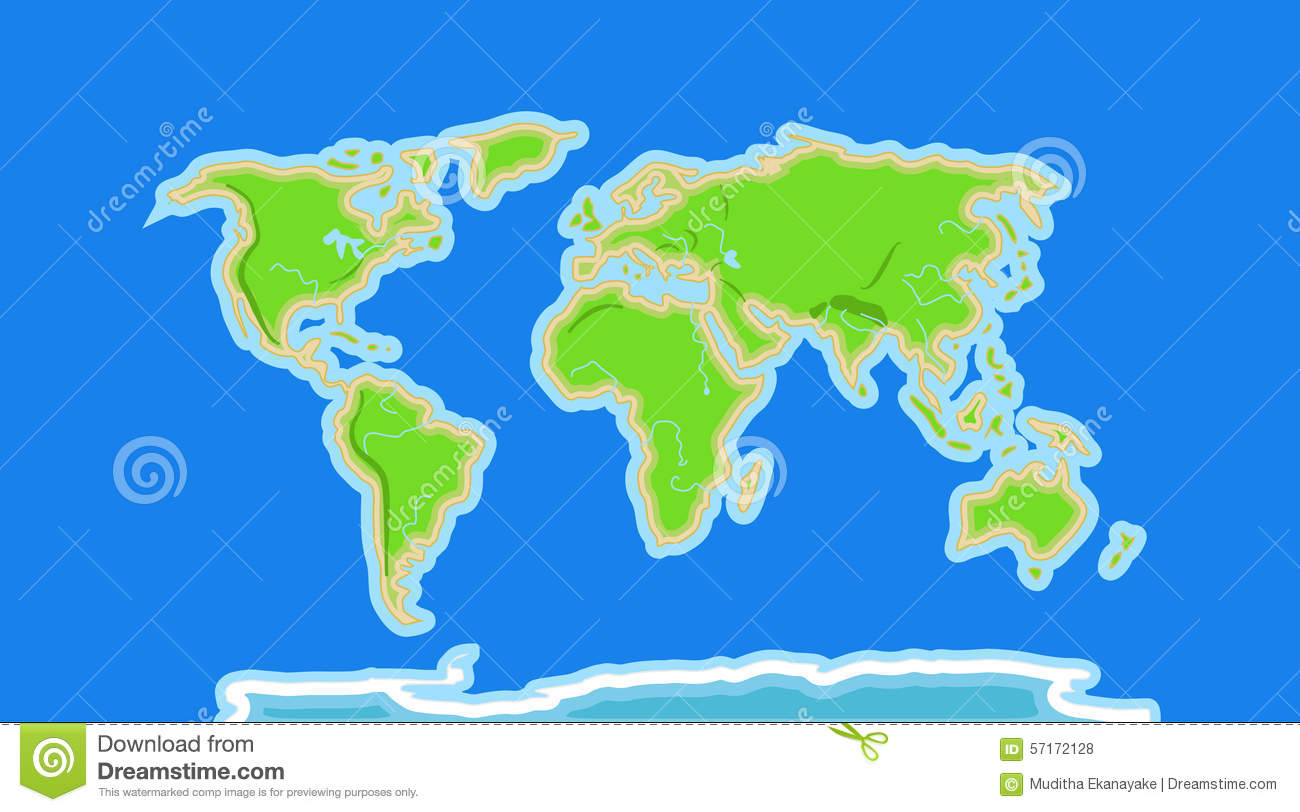 Mountains Map Of World.
