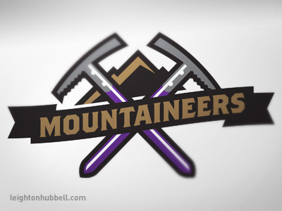 Mountaineer secondary logo by Leighton Hubbell on Dribbble.