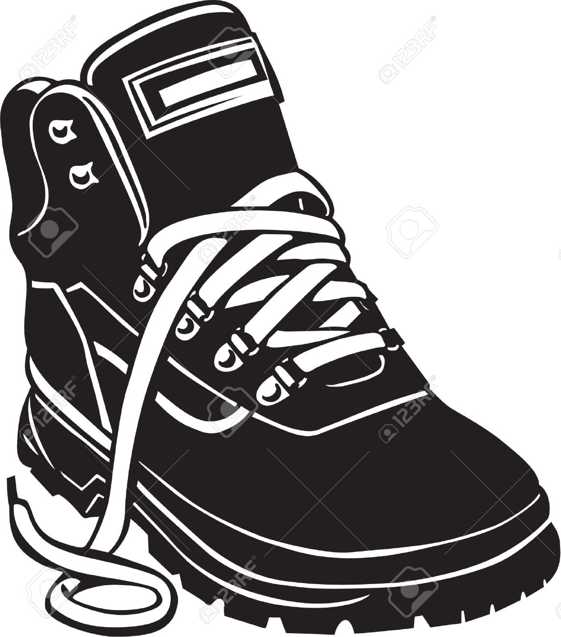Hiking Boot Vinyl Ready Royalty Free Cliparts, Vectors, And Stock.