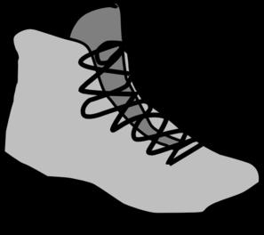 Hiking Shoes Clip Art.