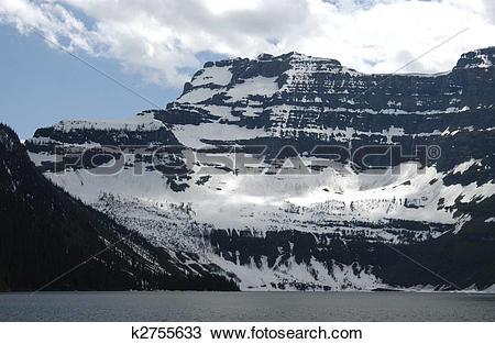 Stock Photo of SHEER MOUNTAIN FACE, LAKE LOUISE BANFF k2755633.