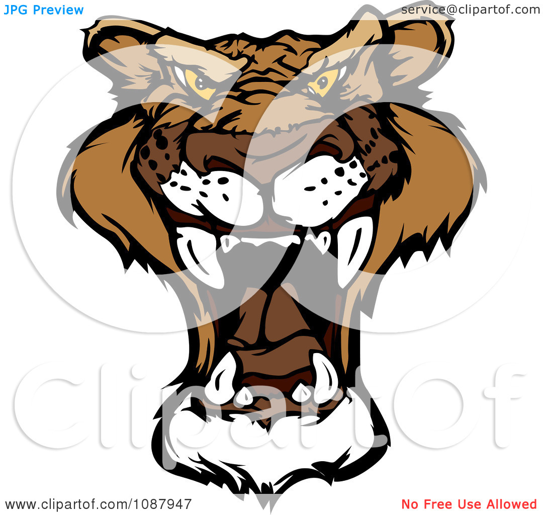 Mountain Lion Face Clipart.