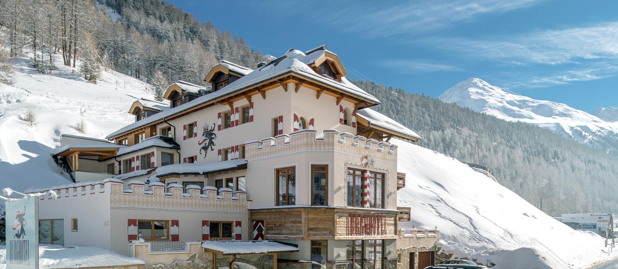 Ötztal: Skihotel an der Piste Obergurgl mit HP.